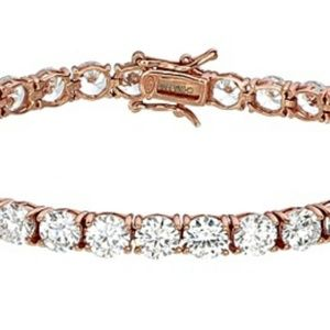 "Jewelry - 7.5"" Rose Gold Tennis Bracelet"